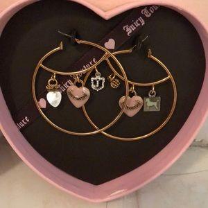 Brand new Juicy couture hoop earrings.